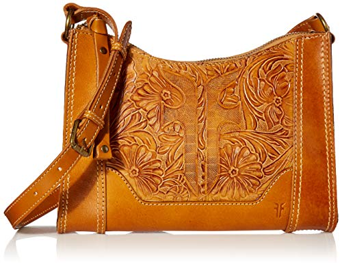 Frye Melissa Artisan Zip Leather Crossbody, Sunflower