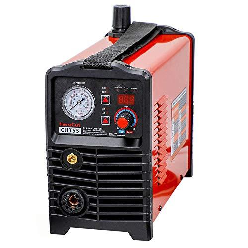 QWERTOUY plasmasnijder IGBT digitale besturing CNC niet-HF-pilootlichtboog Cut55 Dual Voltage 120V / 240V, snijmachine werkt met CNC-tafel