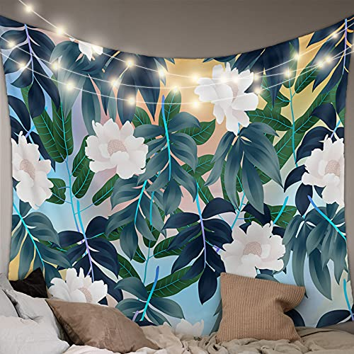 Savannan Wall Tapestry - Tropical Plants Forest Flower Leaves Plants Tapestry Wall Hanging Wall Art Home Decor for Bedroom, Living Room, Dorm, 39X59 Inch