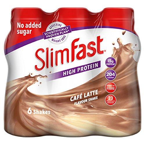 SlimFast High Protein Café Latte Flavour, 6 x 325ml
