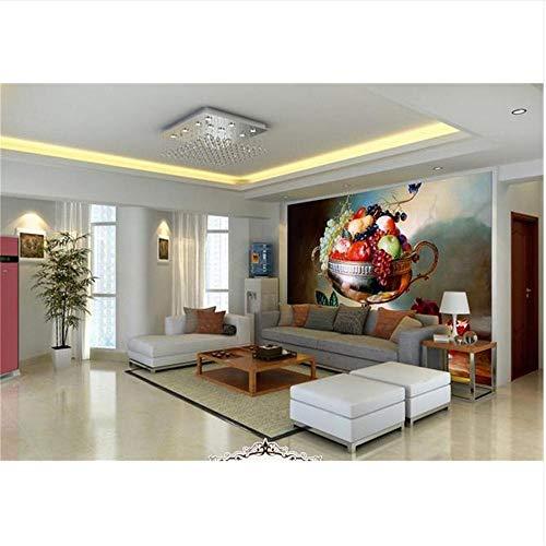 Lovemq 3D Tapete Wandbild Decke/Benutzerdefinierte Fototapeten/Obstschale Obst Stillleben Gemälde/Ktv/Hotel/Bar/Wohnzimmer/Schlafzimmer-400X280Cm