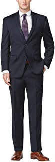 Men's Solid Navy Blue Wool Suit- Size 40R