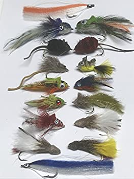 Bass and Pike Lures -Set of Sixteen + Fly Box Size 6 up to 2/0 with Weed Guards #PIK1