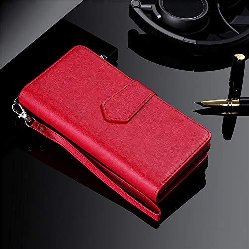 DingHome Estuche magnético para Samsung S20 Ultra S10 S9 S8 Plus Note 20 10 9 8 Tapa de la tarjeta de la cartera de cuero para iPhone 11 PRO XS MAX XR 8 7 Funda