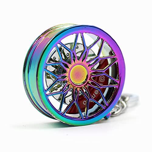 VmG-Store Llavero de llanta de metal, diseño 125 colgantes para llaves (Rainbow)
