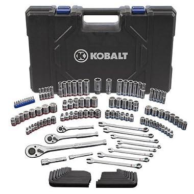 Kobalt 338516 Standard/Metric Mechanic's Tool Set with Case, 138-Piece