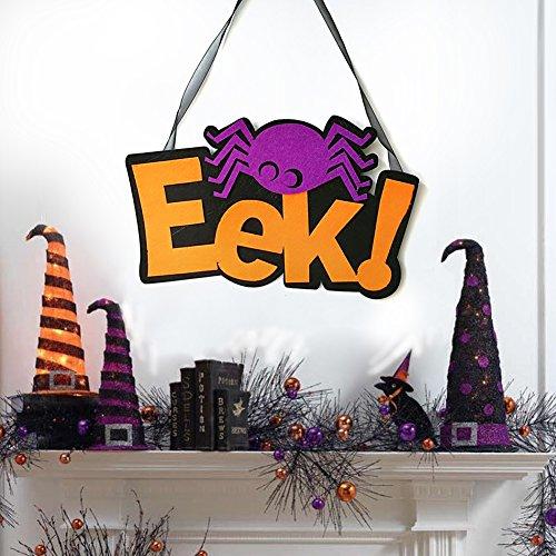 Bangle009 Happy Halloween Eek Spinne Vliesstoff Wand Tür Fenster Party Hängende Dekoration