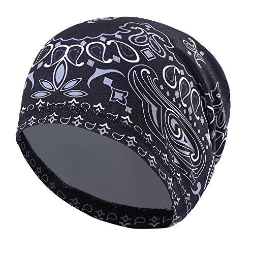 Tofern Mütze unter den Helm Skull Cap elastisch formstabil farbecht Fahrrad Sport, KW-C-17006