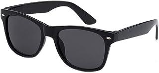 Kids Childrens 80`s Classic Retro Wayfarer Sunglasses (Black)