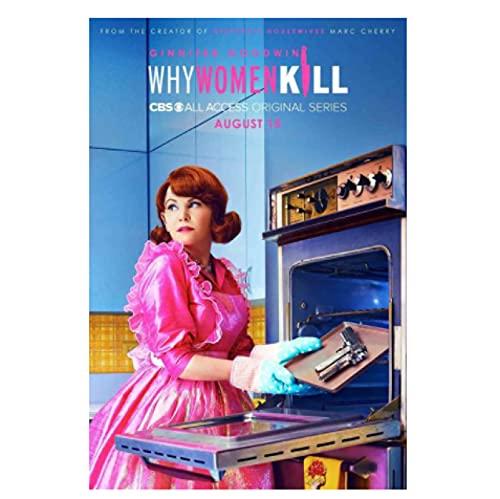 KUANGXIN Serie TV Commedia poliziesca Americana perché Le Donne uccidono la Pittura su Tela per la Decorazione della Camera dei Bambini Regalo-50x75cm Senza Cornice