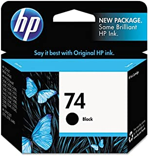 HP #74 OfficeJet J5700 Series PhotoSmart Black Inkjet Cartridge, Part # CB335WN