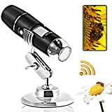 Wireless Digital Microscope Handheld,1080P HD WiFi USB Microscope, 1000X Magnification, Built in 8 LED Lights,Portable...