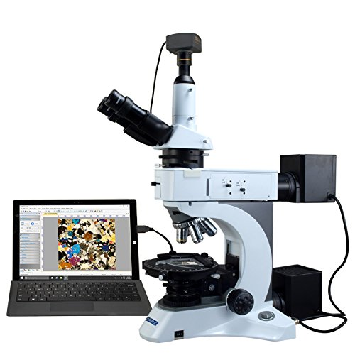 OMAX 50X-1000X 5MP USB 3.0 Digital Infinity Plan EPI/Transmitted Light Polarizing Lab Microscope