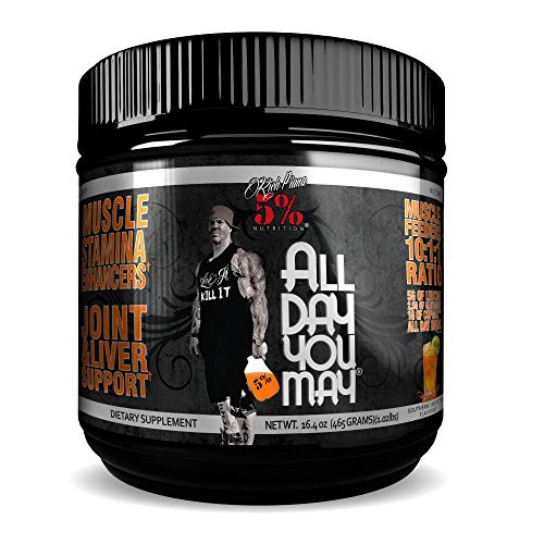 Preisvergleich Produktbild 5% Nutrition - Rich Piana All Day you May (30 serv) Southern Sweet Tea er Pack Ohne Pfand,  465 g