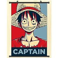 アニメポスター壁巻物ぶら下げ絵画アートプリント絵画壁巻物ポスターギフト One Piece 50x75cm