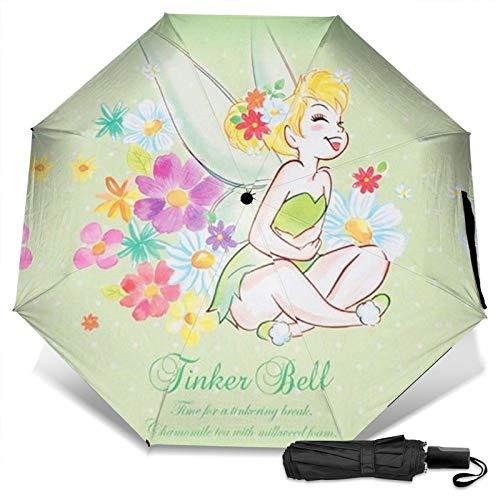 Vidia Rosetta Fairy Tale Tv Merch Light Up Wings Flower Fairies Tin Ker-bell Pixie Hollow Games a prueba de viento paraguas plegable ligero Sombrilla ultra gruesa artículos de cumpleaños sol, hielo