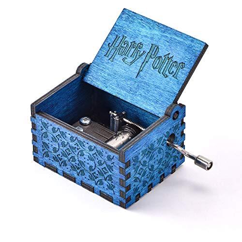 YEUGUI Musikbox aus Holz, mit Handkurbel, Musikbox, Antik-geschnitzt, kreatives Spieluhr, Hochzeit, Valentinstag, Weihnachten, Geburtstag