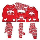 Fossen MuRope Pijamas Familiares Iguales de árbol de Navidad, Pijamas de Navidad Familia Conjunto, Pijamas Mujer Hombre Niño Bebe Divertido Baratos Ropa de Dormir Invierno