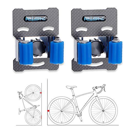 Bike Parking Buckle, Heavy Duty Stainless Steel Bicycle Storage Rack Vertical Mountain Bike Road Bike Wall Mount Clip (2)