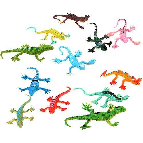 MagiDeal klein Kunststoff Eidechse Gecko Fakten Simulation Dekoration Kind Spielwaren 12 Stück