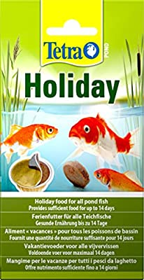 Tetra Pond Holiday Food, 2 Weeks Pond Holiday Fish Food Block, 98 g by Tetra