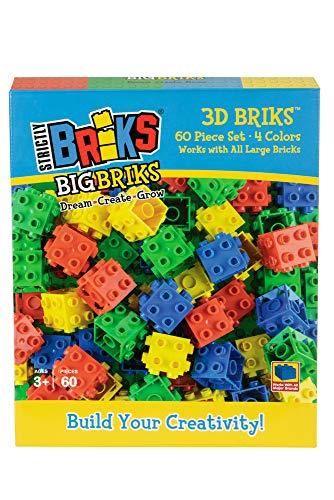 Strictly Briks Big Briks- Building Blocks for Kids (60, 3D Briks)