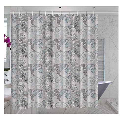 Custom Made Paisley Shower Curtain, Waterproof Bathroom Shower Curtain Polyester Fabric Shower Curtain Size 72 X 72inch