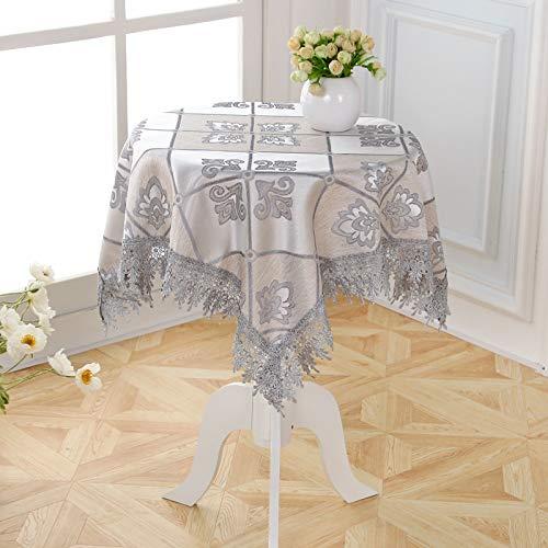 marca blanca Mantel de algodón rectangular de hoja color crema tela de satén lavable resistente decorativo cubierta de mesa de cocina cena fiesta 120 x 170 cm
