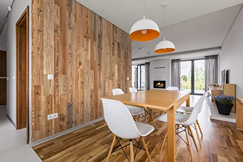 Wandverkleidung aus Altholz, Natürliches Vintage Wall Design (1m2) - 3