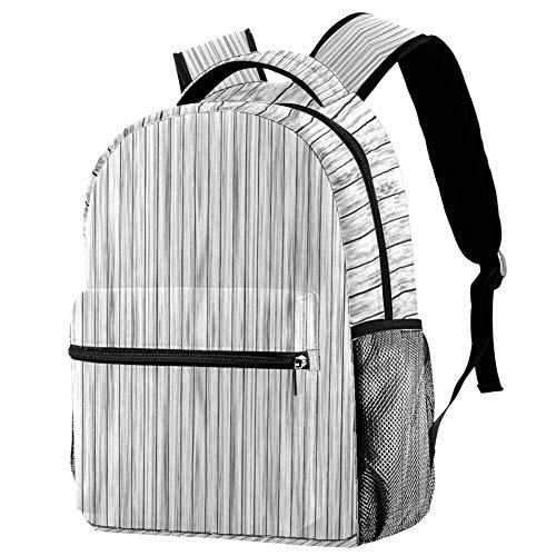 Tableros de pared blanco negro gris mochila de madera mochila escolar bolsa de libro mochila casual para viajes, motivo 1 (Multicolor) - bbackpacks004