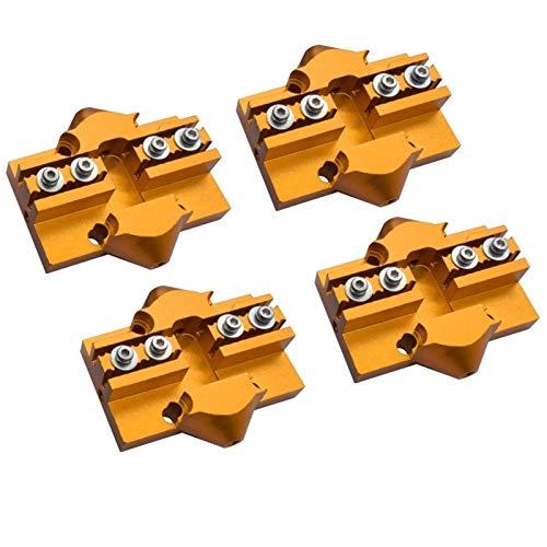 HUANRUOBAIHUO 4PCS Stampante 3D Kossel Effettore di Carrello Alluminio Delta Mini Kossel Slider M3 / M4 con Tackle a Vite Adatto per Cintura a Ciclo Chiuso Parti della Stampante 3D