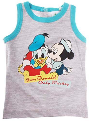 Débardeur bébé garçon Baby Mickey et Baby Donald de 12 à 30mois (30mois, Bleu/gris)