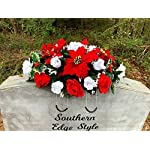 Christmas-Saddle-Christmas-Cemetery-Flowers-Christmas-Headstone-Topper