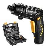 Tournevis électrique, DEKO Sans fil Batterie de Ménage Rechargeable Perceuse électrique Power Gun Outils avec LED Torch