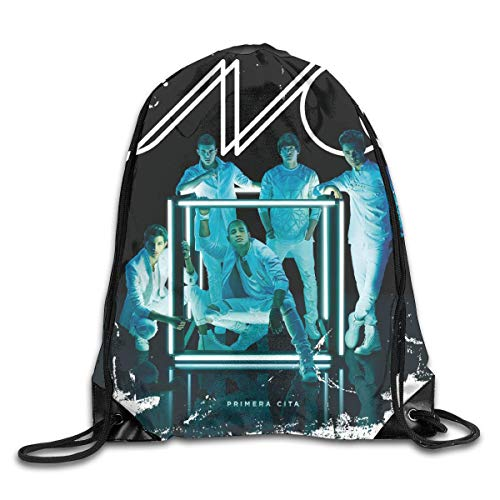 YuYfashions Mochila con cordón CNCO Primera Cita Unisex Drawstring Bag Gym Sport Bags Cinch Sacks Travel Hiking Backpack