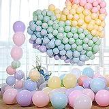 CAILI Globos de Color Macaron,200 Unidades, Adecuado para Todo Tipo de Eventos,Bodas,Graduaciones, Fiestas, Cumpleaños, día de San Valentín, Decoraciones (Mezcla de Colores)
