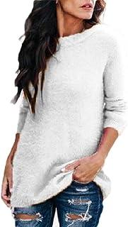 Women Long Sleeve Crewneck Knit Tops Sweater Pullover