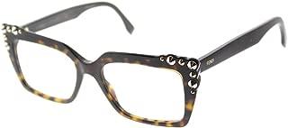 Fendi FF 0262 086 Dark Havana Plastic Square Eyeglasses 51mm