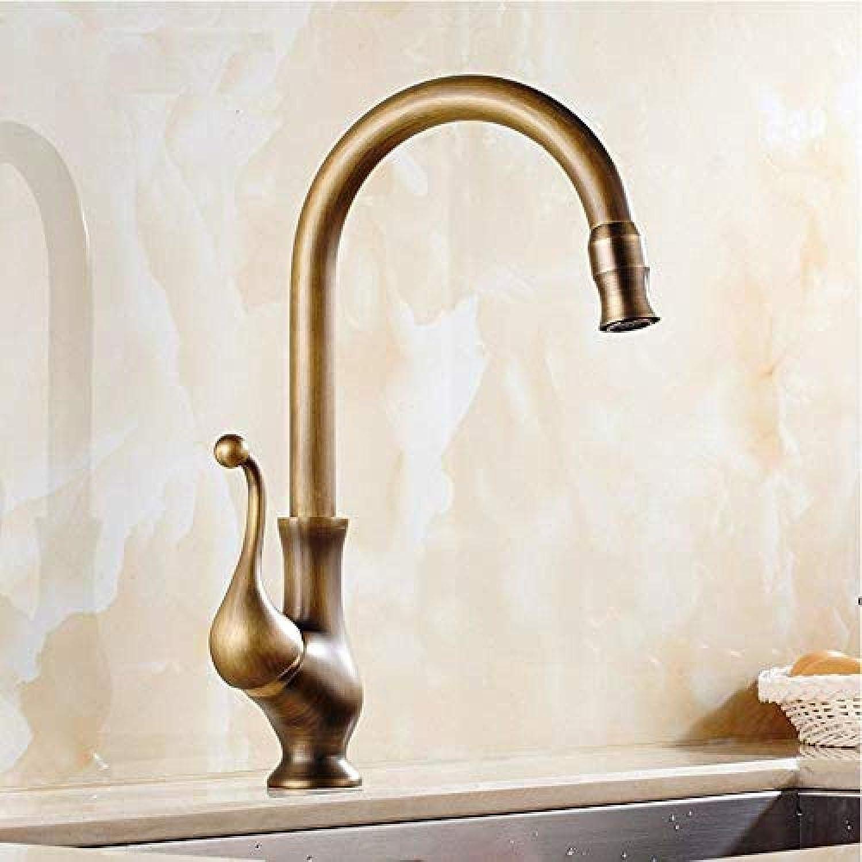 Armatur Neue Ankunft Antike Messing Küchenarmatur 360 Grad Küchenarmatur Einzigen Handgriff Heien Und Kalten Wasserhahn