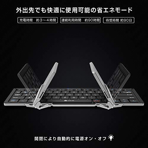 iClever『折りたたみ式Bluetoothキーボード(IC-BK03)』