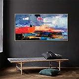 Abstrakte Ölgemälde Wandkunst Wohnzimmer Schlafzimmer Poster Wand rahmenlose Malerei 70cmX140cm