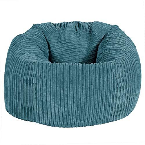 Lounge Pug, Klassischer Sitzsack Sessel, Cord - Türkis