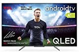 TCL Qled Fernseher 50-Zoll Smart TV (4K Ultra HD, HDR 10+, Dolby Vision Atmos, Triple Tuner, Android TV, Hands-Free Voice Control, Google Assistant & Alexa, rahmenloses Metalldesign)