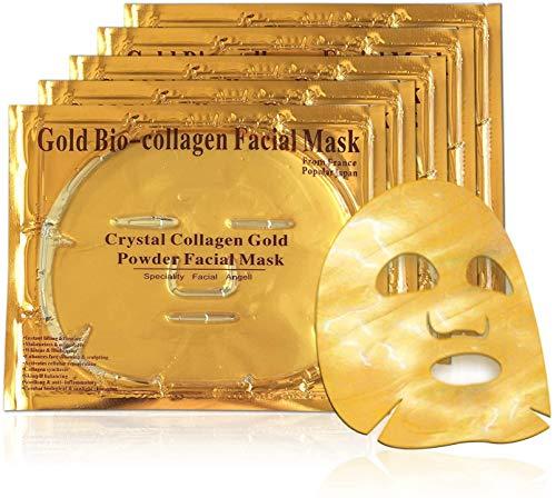 24k Gold Gel Collagen Face Masks, Facial Treatment Deep Moisturising Masks...