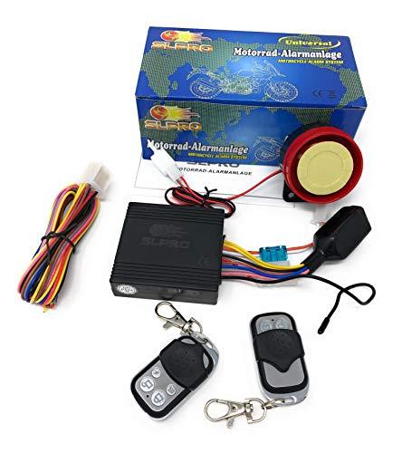 SLPRO 12 Volt Roller Alarmanlage mit Motorstart + 2 Handsender universal für Roller mit 12 Volt