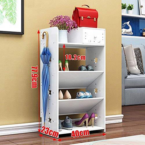 Schoenenrek, meerlagige Europese, eenvoudige, creatieve schoenenbox (2 modellen optioneel) schoenenkist/huishouden (2 modellen optioneel) schoenenbox (kleur: C-6 lagen, maat: 60 cm)