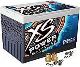 XS Power D3400 12V AGM 3300A Car Audio Battery/Cell+FREE 586 Top-Post Terminals