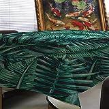 Xiaokai Tropical Hojas de Palma Lino Mantel Impermeable cifrado café Mantel Hotel Tabla Mantel Impermeable y antiincrustante (Color : A, Size : 140 * 160cm)
