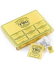 TWG Tea | Empire Tea Selection, surtido clásico de 6 variedades en 30 bolsitas de algodón cosidas a mano en caja de regalo de 75g