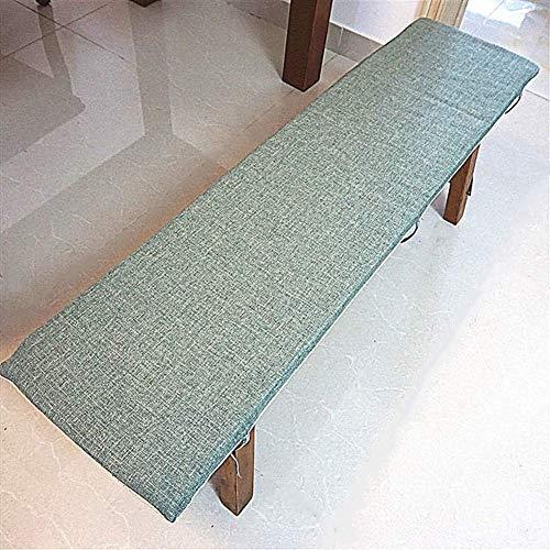 YWTT Cojines Largos Transpirables para sillas mecedoras, cojín de Banco Columpio Relleno, Esponja para Interiores y Exteriores, Cojines para sillas de Patio rellenas, Verde 30x80cm (12x31in)
